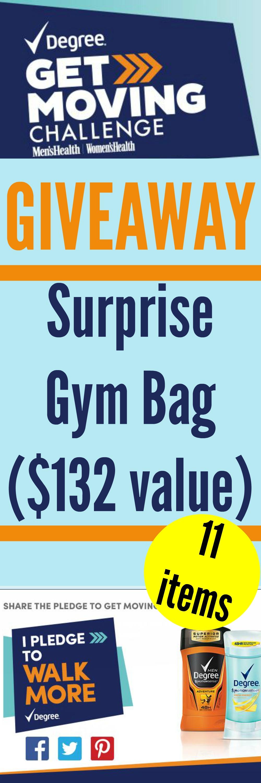 Giveaway: Degree® Get Moving Surprise Gym Bag ($132 value)