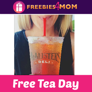 Free Tea Day at McAlister's Deli Today