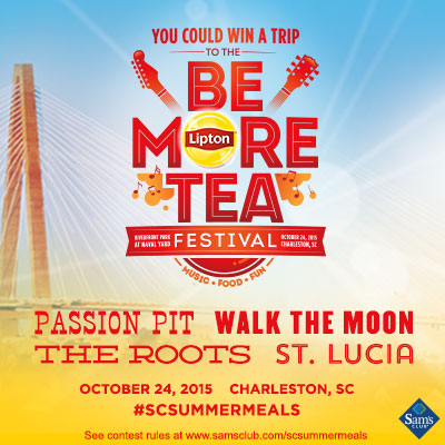 Lipton® Be More Tea Festival - Win a Trip or Sam's Club Gift Card