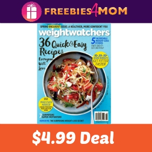 Magazine Deal: Weight Watchers $4.99