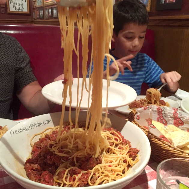 Spaghetti with Meat Sauce at Buca di Beppo Restaurant