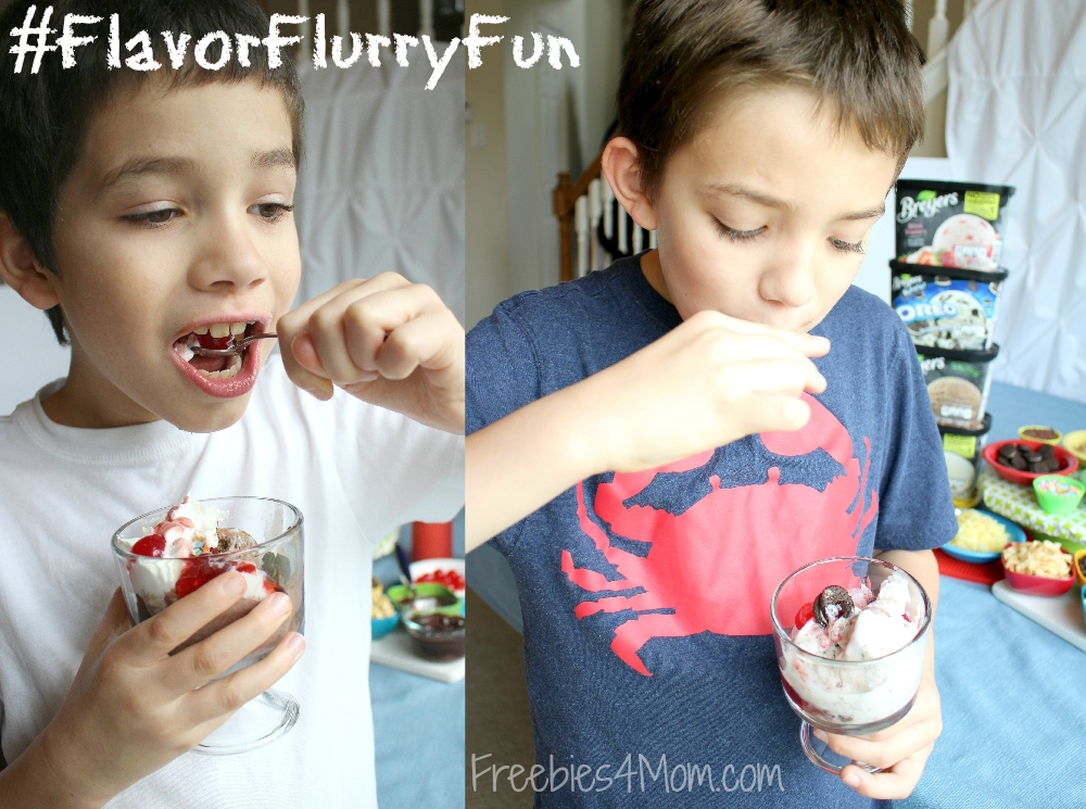 Eating Breyers Ice Cream #FlavorFlurryFun