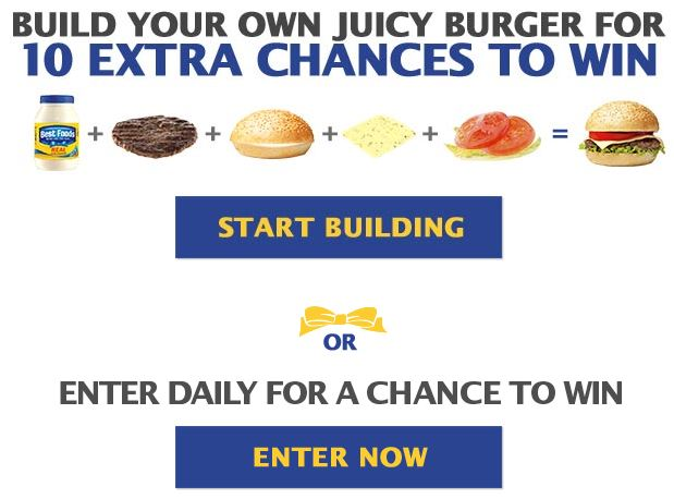 Best Foods Build Your Juicy Burger Sweepstakes