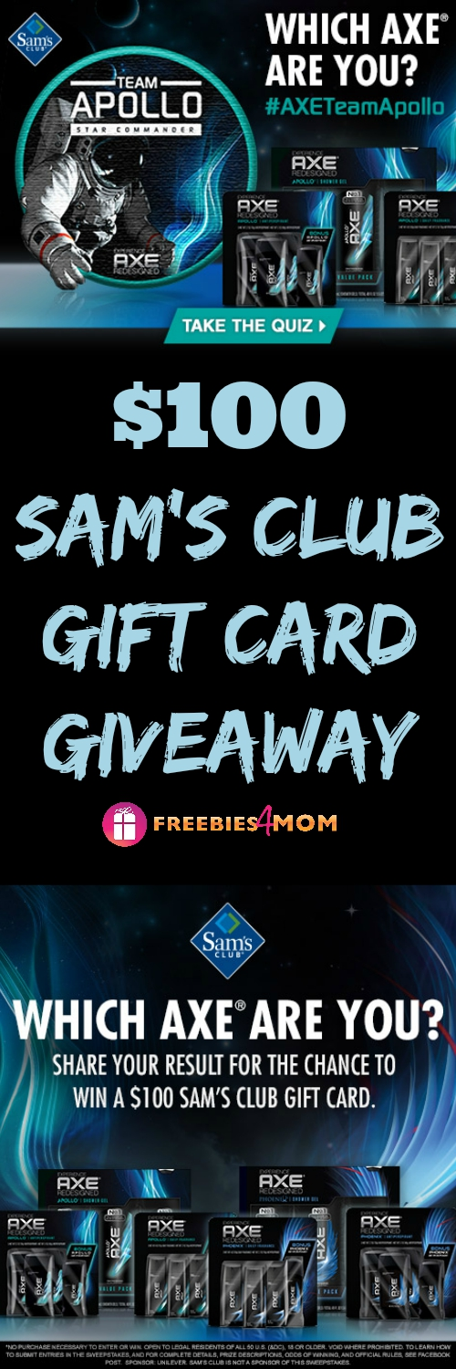 $100 Sam's Club Gift Card Giveaway ~ Find Your AXE® at Sam's Club