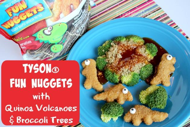 Tyson® Fun Nuggets with Quinoa Volcanoes & Broccoli Trees