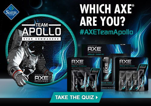 AXE at Sam's Club - Which AXE are you? #AXETeamApollo