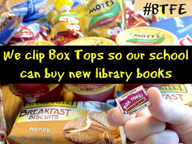 We clip Box Tops so our school can buy new library books