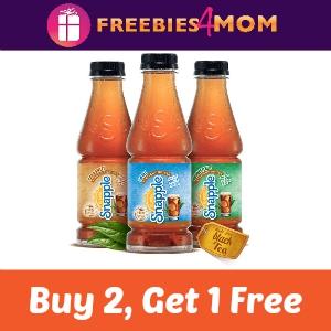 Buy 2, Get 1 Free Snapple Straight Up Tea