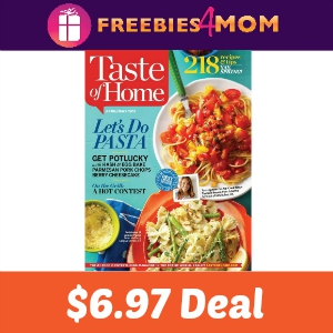 Magazine Deal: Taste of Home $6.97