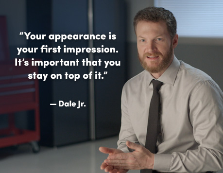 Dale Jr. video about getting ready for a race