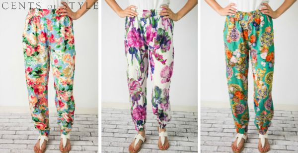 Comfy Floral Print Lounge Pants