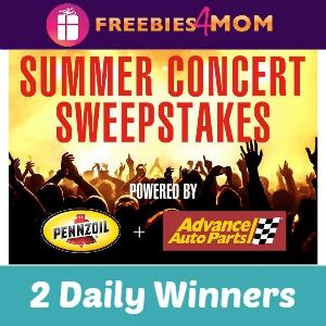 Sweeps Pennzoil Summer Concert