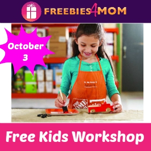 Free Kids Workshop at Home Depot Oct. 3