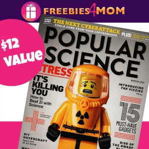 Free Popular Science Magazine ($12 value)