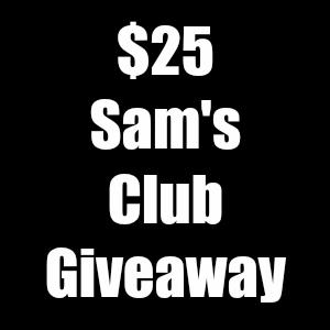 $25 Sam's Club Gift Card Giveaway Winner