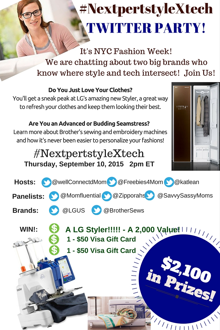 $2,100 in Prizes at #NextpertstyleXtech Twitter Party 9/10 2pm ET