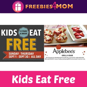 Kids Eat Free at Applebee's in September