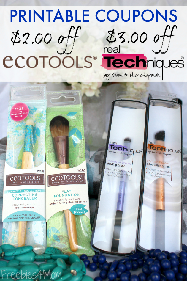 Printable Beauty Coupons for $2.00 off EcoTools and $3.00 off Real Techniques