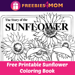 Free Kids Printable Sunflower Coloring Book
