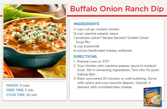Buffalo Onion Ranch Dip Recipe