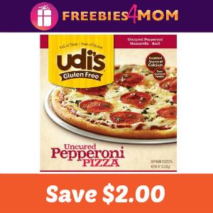 $2.00 off one Udi's Gluten Free Frozen Pizza