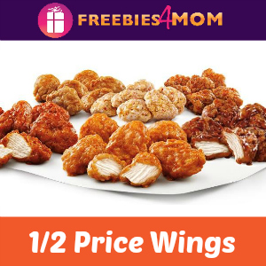Sonic 1/2 Price Wings May 5
