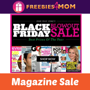 Black Friday Magazine Blowout (starting at $0.99)