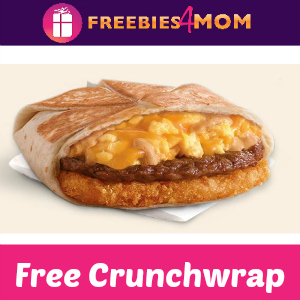Free A.M. Crunchwrap at Taco Bell Thursday
