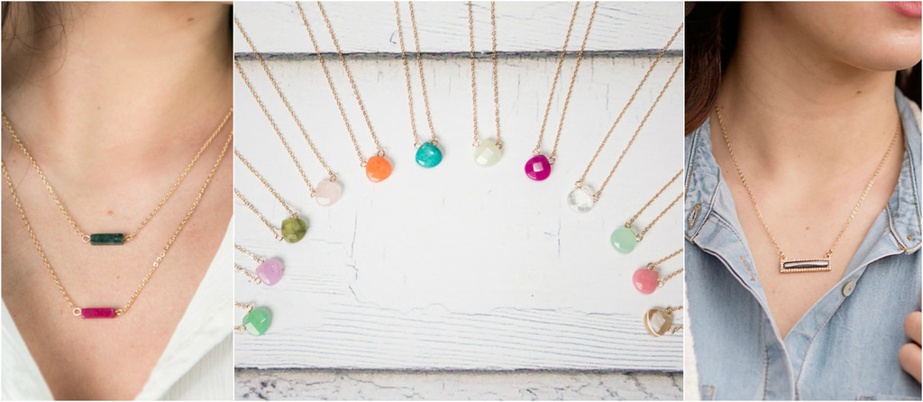 Semi-Precious Stone Necklaces