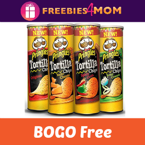 Coupon BOGO Free Pringles Tortilla Can