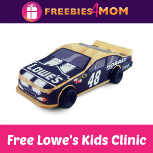 Free Pullback Car Lowe's Build & Grow Kids Clinic