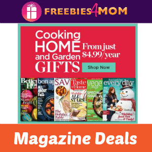 Cooking, Home and Garden Magazine Deals