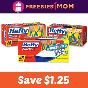 Coupon: $1.25 off any Hefty Trash Bags