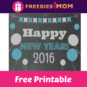 Free New Year's Eve Printable