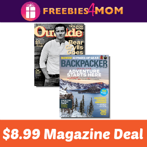 Outside & Backpacker Magazine Bundle $8.99