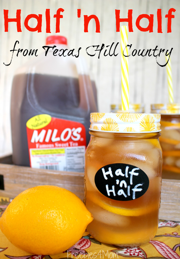 Half 'n Half Drink Recipe using Milo's Sweet Tea from Walmart