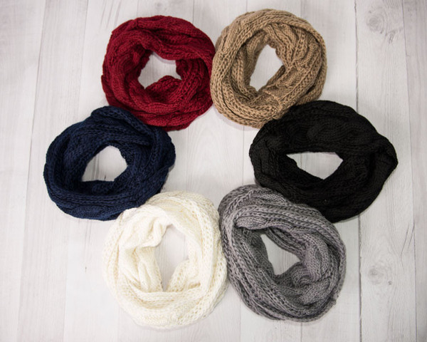 Cable Knit Infinity Scarf $7.95