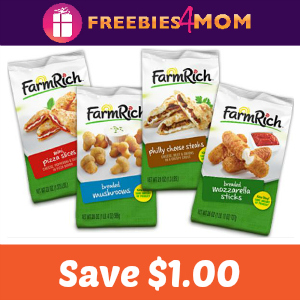 Coupon: $1.00 off any Farm Rich Snack
