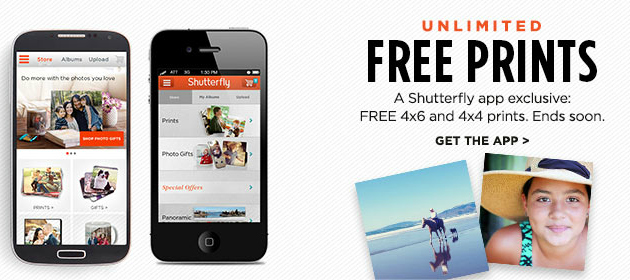 Free unlimited 4x4 and 4x6 Prints from Shutterfly: freebies4mom.com/prints