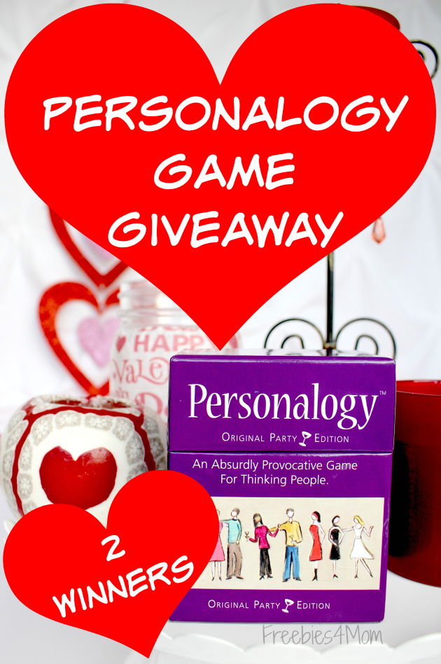 Personalogy Game Valentine's Giveaway (2 winners)
