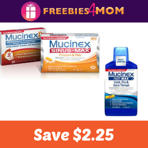 Coupon: $2.25 off one Mucinex product