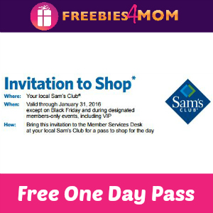 Free One Day Sam's Club Pass