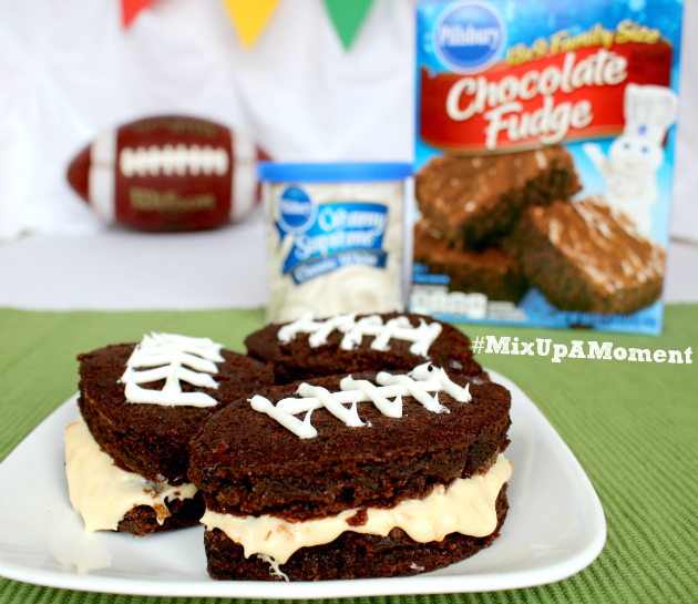 Apricot Football Brownies with Pillsbury™