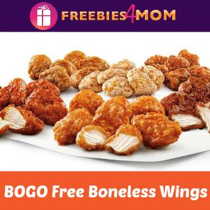 Sonic Boneless Wings BOGO Free