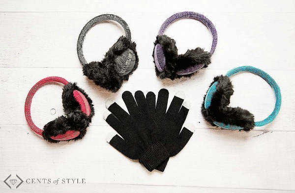 $7.95 Techie Earmuff Speakers & Touch Gloves