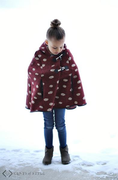 Girls Hooded Ponchos & Kids Graphic Hoodies