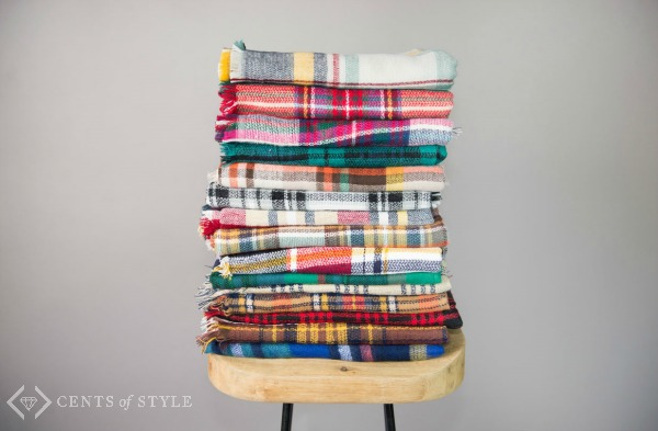 $12.95 Plaid Blanket Scarves (+ Free Shipping!)