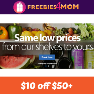 $10 off $50+ Walmart Grocery Order