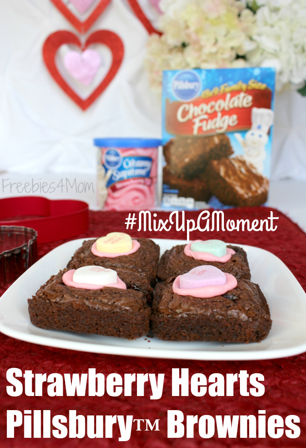Strawberry Hearts Pillsbury™ Brownies for Valentine's Day