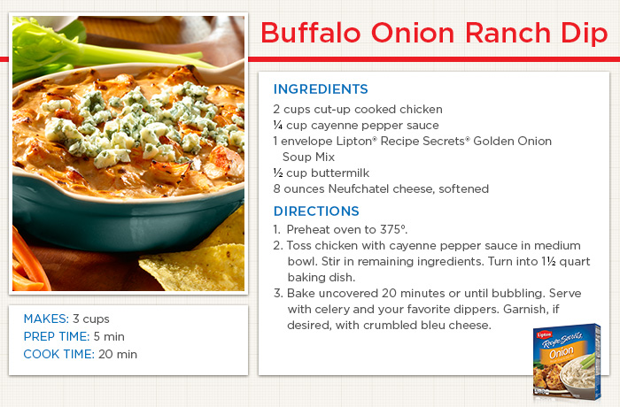 Buffalo Onion Ranch Dip Recipe